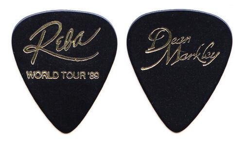 Vintage Reba McEntire Black Dean Markley Guitar Pick - 1989 Tour