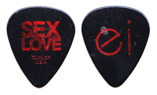 Enrique Iglesias Signature Black/Red Guitar Pick - 2014 Sex & Love World Tour