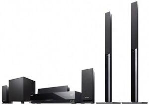 Sony surround 3-D Blu ray system (model bdv-e870) + movies