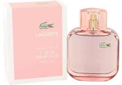 Lacoste L.12.12 Pour Elle Sparkling Perfume Women 3 oz Eau De Toilette Spray New