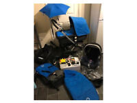 bugaboo cameleon 2 travel system isofix base pram pushchair stroller car seat blue buggy board