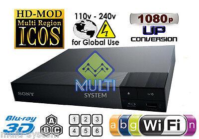 Sony BDP-S5500 Region Free DVD & BD ZONE ABC Blu-Ray Disc Player- USB- 3D- WIFI