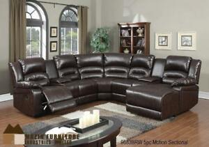 LEATHER SECTIONAL RECLINER ON SALE (ND 77)