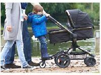 Ride on platform to attach to pram for second child