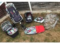 cosatto giggle 2 travel system pram/buggy/car seat
