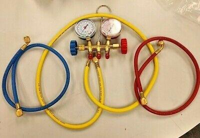 R12 R22 R134a Manifold Gauge Set Hvac Refrigeration Charging Hoses Kit Johnsens