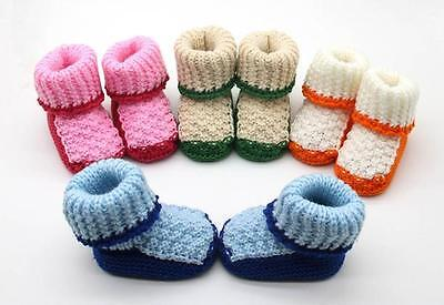 New Toddler Newborn Baby Knitting Lace Crochet Shoes Buckle Handcraft Shoes Gift
