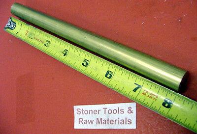 34 C360 Brass Round Rod 8 Long Solid .750 New Lathe Bar Stock H02 12 Hard