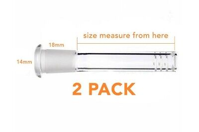 2 Pack Scientific Glass Downstem Diffuser 14mm To 18mm 3 To 5