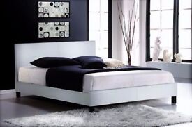 LEATHER FRAME IN FLATPACK WITH DIFFERENT RANGE OF MATTRESSES