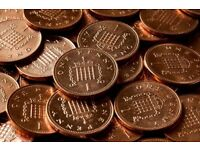 Copper coins wanted for art project