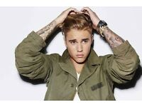 "Justin Bieber The ""Where Are You Now"" VIP Purpose Experience x 2 tickets"
