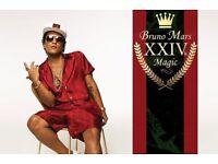 4 x Bruno Mars front standing tickets. Birmingham Monday 24th April