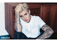 Pair of Justin Bieber Pit Tickets, O2 Arena 11 October