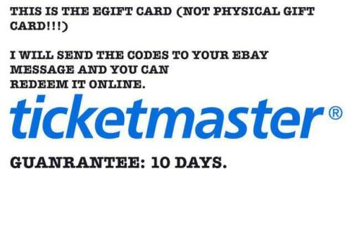 $100 TICKETMASTER Gift Card (PLS READ THE DESCRIPTION IN THE PICS)