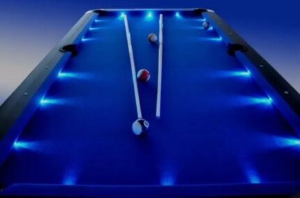 Blue, Red, Green LED Pool Tables and more!