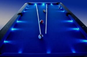 Brand New! 8ft LED Pool Table / Snooker, Red, Blue, Green Jerusalem Copper Coast Preview