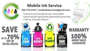 Mobile Ink Refill Service - Canon, Brother, HP, Epson