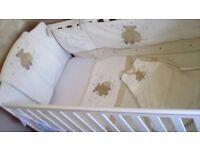 Neutral colour Cot bedding
