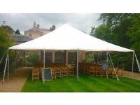 Pole Tent Semi Pro Plus 9 x 12 m PVC - White