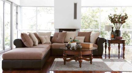 Modular Leather & Suede Lounge