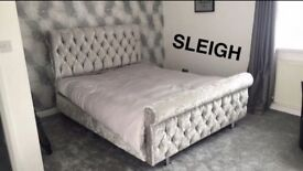 BESPOKE- CRUSHED VELVET BEDS