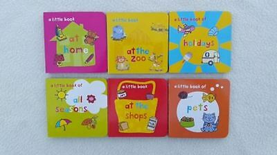 PK 6,MINI BOARD BOOKS,Early Reading/Learning Fun,Girl,BoyStocking Fillers,Gift.