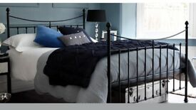 Feather and Black kingside bed frame