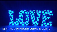 Now available for rent Wedding LED BOX LETTERS