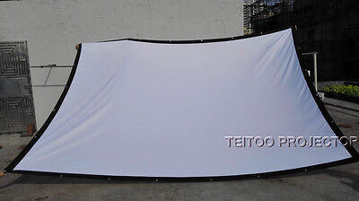 Outdoor Screen Curtains (200 Inch 4:3 Outdoor Screen Curtains for Any DVD Video 3D Data Mobile Projector )