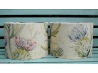 2x BRAND NEW thistle pattern lampshades Voyage Maison fabric