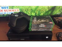 Xbox one elite and controller with games