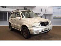 2002 52 Reg, Suzuki Grand Vitara 2.0 Petrol, 4 Wheel Drive, 5 Door, Manual, Metallic Silver