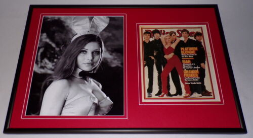 Debbie Harry Blondie Framed 12x18 Bunny Photo & Rolling Stone Cover Display