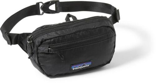 Patagonia Ultralight Black Hole Mini Hip Pack 1L Fanny Waist Bag Black Nylon New