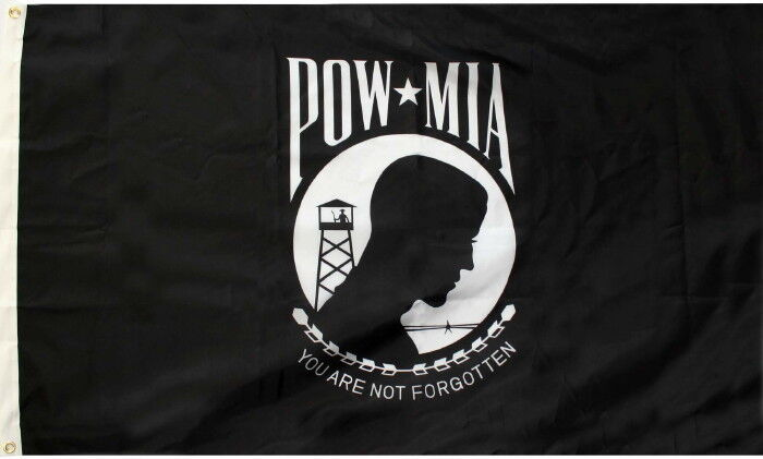 POW MIA FLAG YOU ARE NOT FORGOTTEN LARGE 3 x 5 FEET WITH GROMMETS  FREE SHIP!!