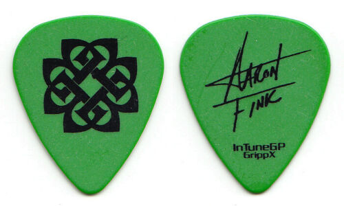 Breaking Benjamin Aaron Fink Signature Green Guitar Pick - 2008 Phobia Tour
