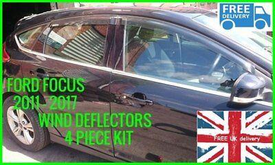BRAND NEW FORD FOCUS MK3 2011 ONWARDS WIND & RAIN  SMOKE DEFLECTOR