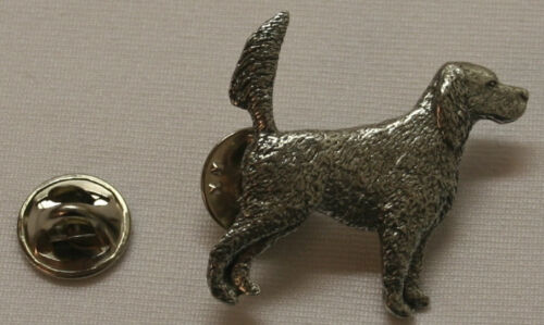 English Setter Tail Up Dog Fine PEWTER PIN Jewelry Art USA Made