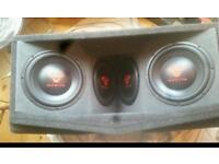 Subwoofer-bass-custom box- car audio-cerwin vega