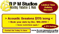 Acoustic Studio Sessions! Priced by the song!