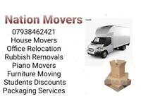 24/7 House Office Flat Piano Furniture Moving Rubbish Removals Delivery Man and Van Service