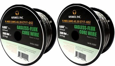 2 Rolls K-ngs E71t-gs .035 In. Dia 2lb. Gasless-flux Core Wire Welding Wire
