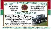CLASS 1, 3 & 4 Driver Training & Much More!!