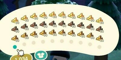 Animal Crossing New Horizons Materials (Wood, Branch, Stone, Iron, Clay) 1 Stack