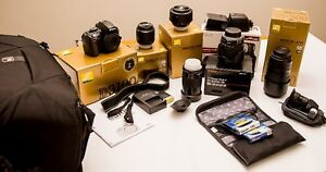 Nikon D3100 body, lenses and accessories