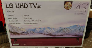 "Brand New LG 43"" 4k Smart TV Factory sealed"