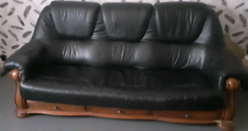 3 seater sofa and matching chair.