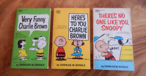LOT of 3 + 1 Charlie Brown - Snoopy books - Charles M. Schulz