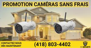 Caméras de surveillances sans frais